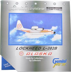 Alaska Airlines Model 1/400 scale Gemini Lockheed L-382B Golden Nugget