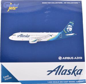 Alaska Airlines Model 1/400 scale Gemini A319 Standard Livery