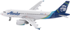Alaska Airlines Model 1/400 scale Gemini A319 Standard Livery image 1