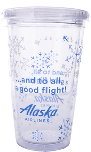 Alaska Airlines Tumbler Holiday