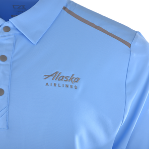 Alaska Airlines Polo Mens Cutter and Buck Fusion