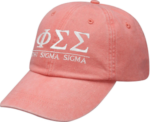 Greek Letters Hat - phi sigma sigma