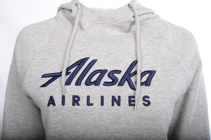 Alaska Airlines Sweatshirt Ladies Champion Hooded
