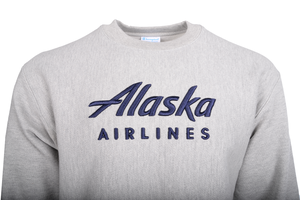 Alaska Airlines Sweathshirt Mens Champion Crew