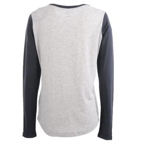 Alaska Airlines T-Shirt Ladies Champion Long Sleeve Colorblock