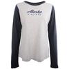 Alaska Airlines T-Shirt Ladies Champion Long Sleeve Colorblock image 1
