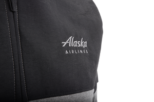 Alaska Airlines Jacket Mens Big Cotton Charcoal and Black