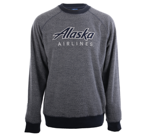 Alaska Airlines Sweatshirt Mens Crew Neck