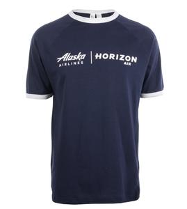 Alaska Airlines/Horizon Air T-shirt Unisex Cutter and Buck Ringer T