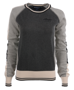 Alaska Airlines Sweater Ladies Cutter and Buck Stride Colorblock