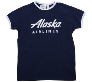 Alaska Airlines T-shirt Youth Clique Ringer