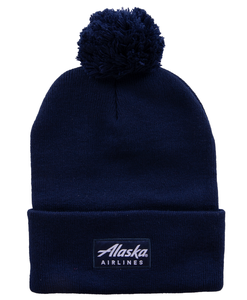 Alaska Airlines Cap Beanie with Pom Kraken