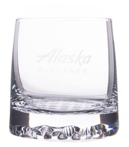Alaska Airlines Glass Tundra Rocks 11oz