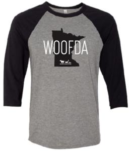 Woofda Adult 3/4 Sleeve Baseball Tee