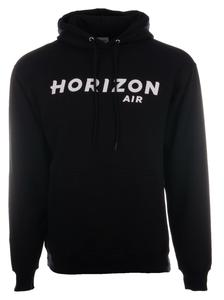 Horizon Air Sweatshirt Unisex Cutter and Buck Hooded Black