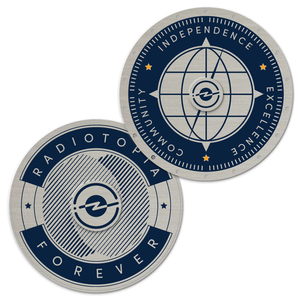 Limited Edition Chrome Radiotopia Challenge Coin