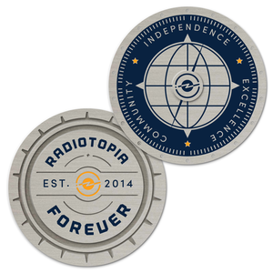 Limited Edition Silver Radiotopia Challenge Coin