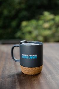 Earthjustice Good Lawyer Cork Mug