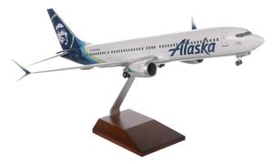 Alaska Airlines Model 1/100 scale Skymarks Supreme 737 Max9 Standard Livery