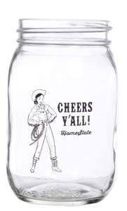 Cheers Y'all Mason Jars