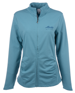 Alaska Airlines Jacket Ladies Gear Stay and Play Full Zip Turquise