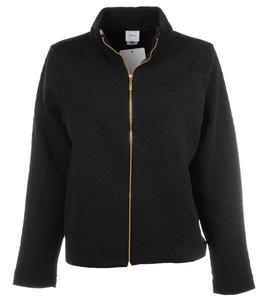 Alaska Airlines Jacket Ladies Gear Quilted Zip Black