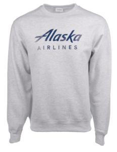 Alaska Airlines Sweatshirt Unisex Crew Ash Grey