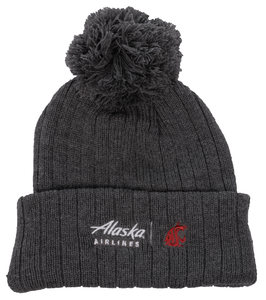 Alaska Airlines Beanie with Pom WSU