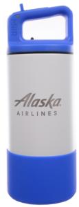 Alaska Airlines Water Bottle MiiR 12oz Kids Blue