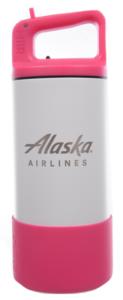 Alaska Airlines Water Bottle MiiR Kids 12oz Pink