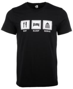"""""""Eat Sleep Serve"""" Unisex T-Shirt"""