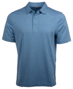 Alaska Airlines Polo Mens Cutter and Buck Forge Heather Blue