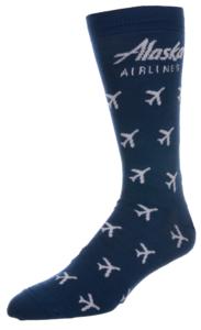 Alaska Airlines Sock Strideline
