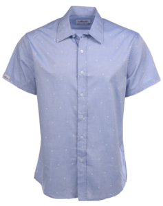 Alaska Airlines Shirt Chambray Airplane Button-Up