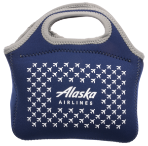 Alaska Airlines Lunch Bag Neoprene Airplanes