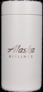 Alaska Airlines Can Chiller 12oz Slim White