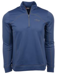 Alaska Airlines Sweatshirt Ladies Cutter and Buck Half Zip Helsa Sea Blue