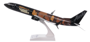 Alaska Airlines Model 1/130 Scale Skymarks 737-900 Commitment Plane