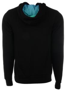 Unisex Black Hoodie, Centered Logo