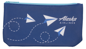 Alaska Airlines Pouch Vegan Leather