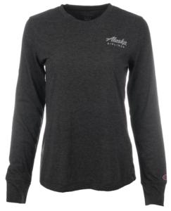 Alaska Airlines T-Shirt Ladies Gear Long Sleeve Black