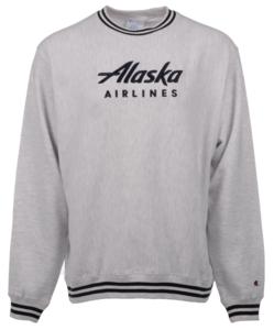 Alaska Airlines Sweatshirt Men's Champion Reverse Weave Crew