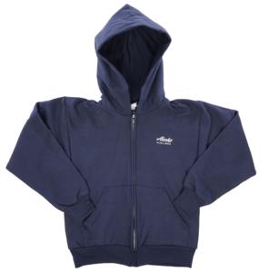 Alaska Airlines Sweatshirt Youth Cutter and Buck Hooded Full Zip - YRK03001NA