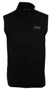 Alaska Airlines Vest Mens Cutter and Buck Softshell - MQO00068BL